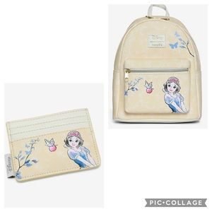 Loungefly Snow White Sketch Mini Backpack &wallet